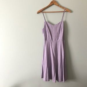 Old Navy Purple Geo Pattern Fit and Flare Cami